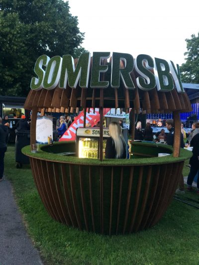 Somersby sales kiosk – project and full construction
